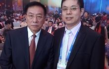 董事长郑两斌与中华全国归国华侨联合会主席林军合影